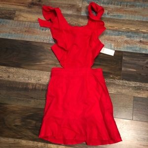 Adorable cut out dress from red dress Small
